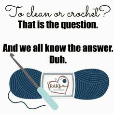 crochet or cleaning