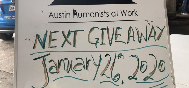 Warmth items, hand sanitizer, emergency blankets and more items we need for the January 26 Giveaway
