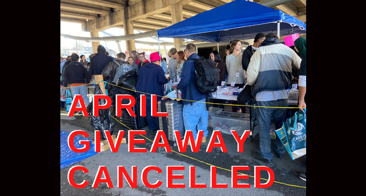 April 2020 Giveaway Cancelled