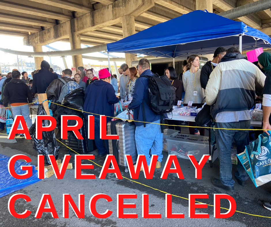 April giveaway cancelled