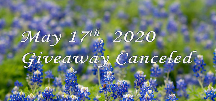 May Giveaway Canceled