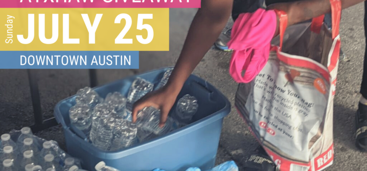 It's July Giveaway time! Here's what we need: reusable bags, rolling suitcases, backpacks and more